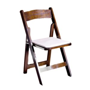 Fruitwood Garden Chair WTan Cushion Rental