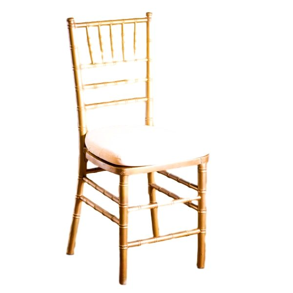 Gold Chiavari Chair With Pad Rental
