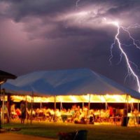 Tent Rental Lighting Thunder