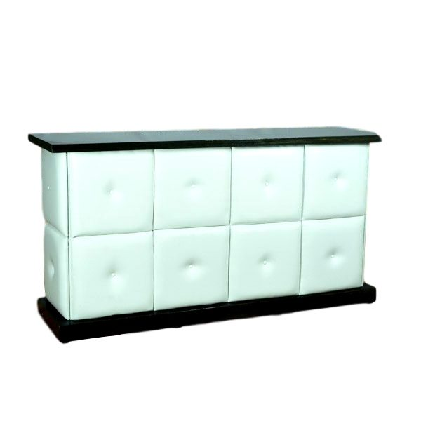6′ White Tufted Bar Rental