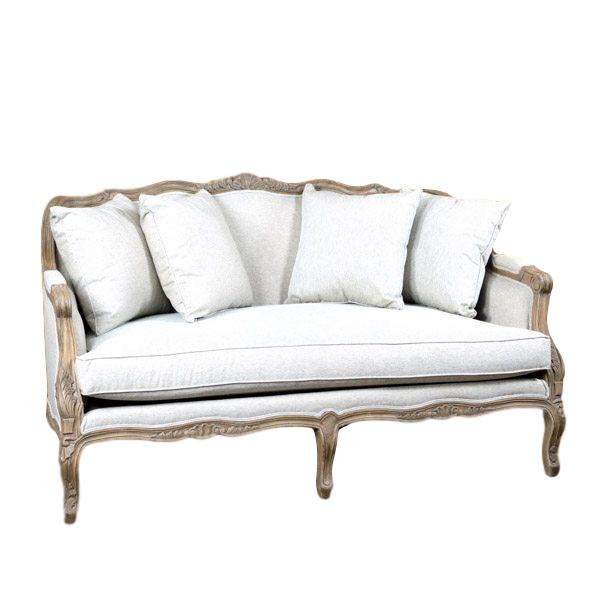 Super Eugene Loveseat Light Grey Ncnpc Chair Design For Home Ncnpcorg