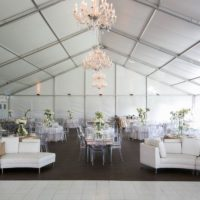 Clean White Structure Tent Rental