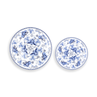 Blue Flower China Set