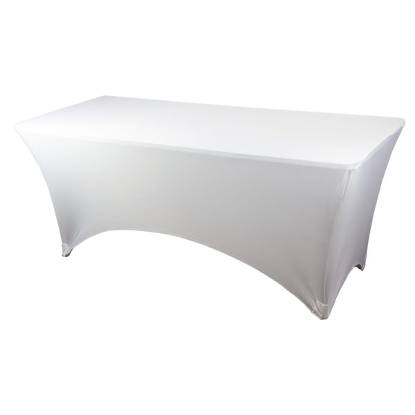 White Rectangular Spandex Linen