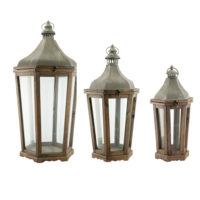 Wood & Galvanized Metal Lanterns