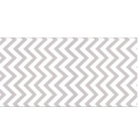 Zig-Zag Runner Grey & White Linen