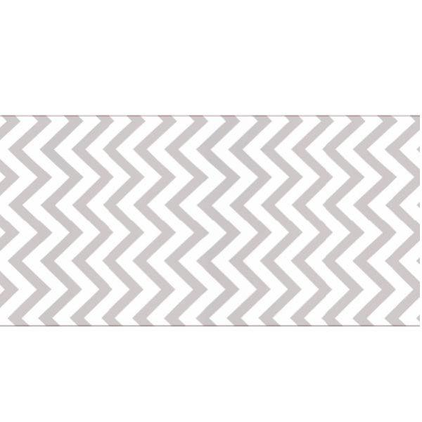 Zig-Zag Runner Grey & White Linen