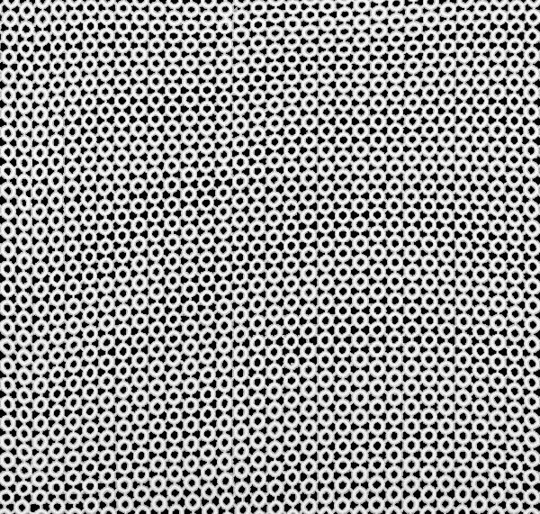 White Circle Cut Overlay