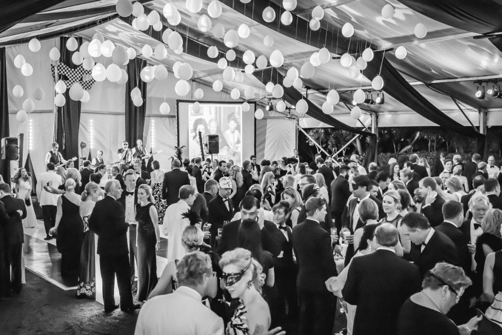 Peerless Crowded Dance Floor at Black and White Gala by Peerless
