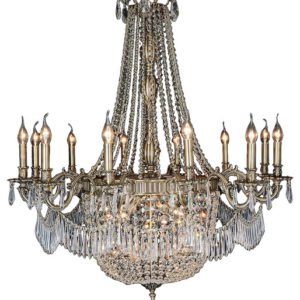 Gold Crystal Chandelier Large