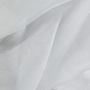 White Organza Overlay