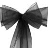 Black Organza Sash
