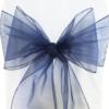 Navy Blue Organza Sash