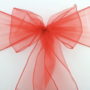 Red Organza Sash