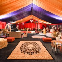 Elegant Decor and Furniture Under Colorful Frame Tent 2019 Event Trends