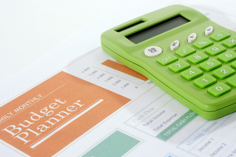 Budget Planner Green Calculator Angle