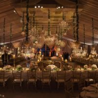 Candlelit Lighting in Wedding Tent Design Photo by Christian Oth Studio
