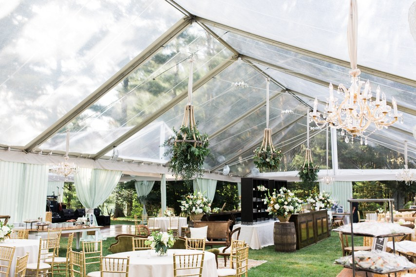 Clear Structure Tent Summer Wedding Design Photo by Kristin Moore Photo