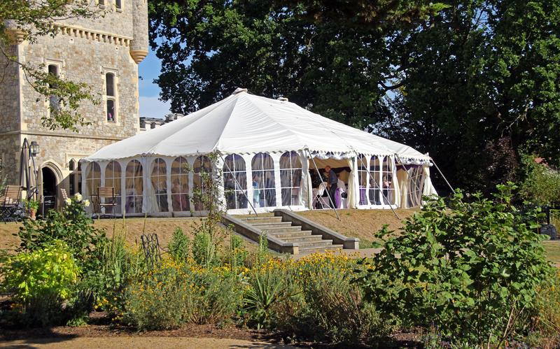 Outdoor Wedding Tent Marquee in Kent England
