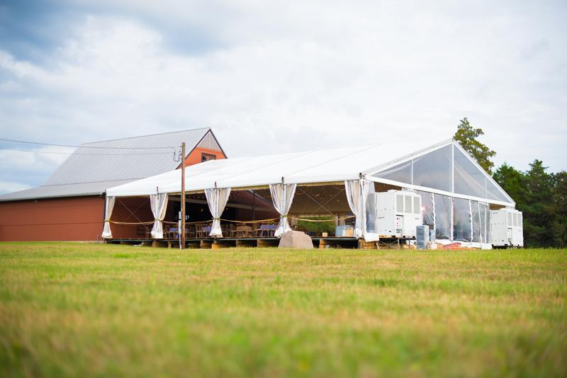 Structure Tent with Hardwood Floor at Guill Wedding
