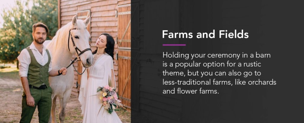 Farms and Fields for Outdoor Weddings