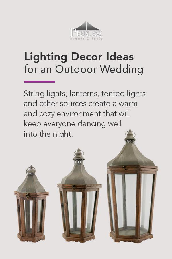 Lighting Decor Ideas for Outdoor Wedding