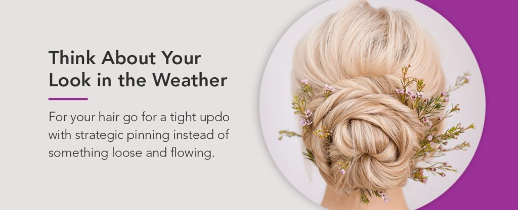 Plan Your Wedding Look with Weather in Mind