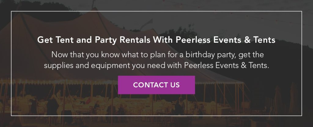 Tent and Party Rentals from Peerless Events & Tents