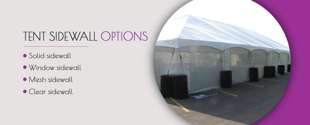 Tent Sidewall Options