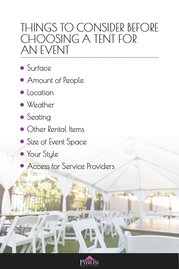 Things to Consider Before Choosing a Tent for an Event